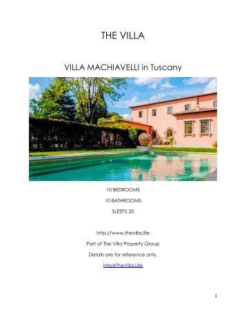 Villa Machiavelli - Tuscany
