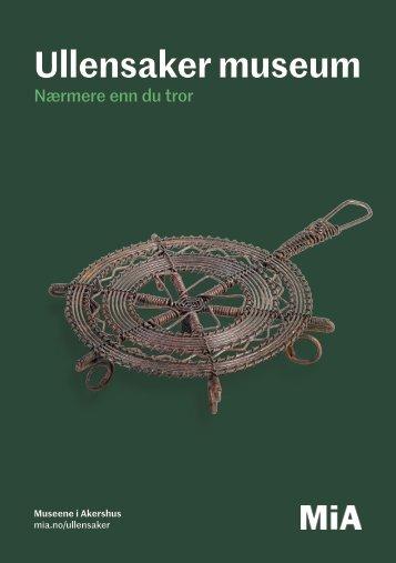 Ullensaker museum brosjyre 2018
