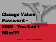 How To Change Yahoo Account Password - You Can't Miss!!