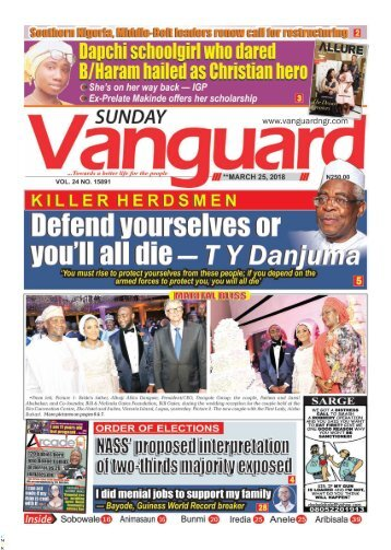 25032018 - Defend yourselves or you'll all die —T Y Danjuma
