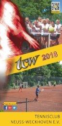 Clubheft des TCW - Ausgabe für 2018
