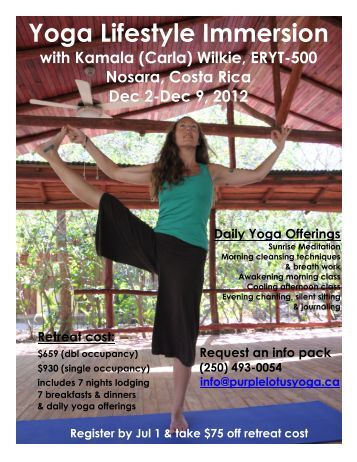 Yoga Lifestyle Immersion - South Okanagan Yoga Academy