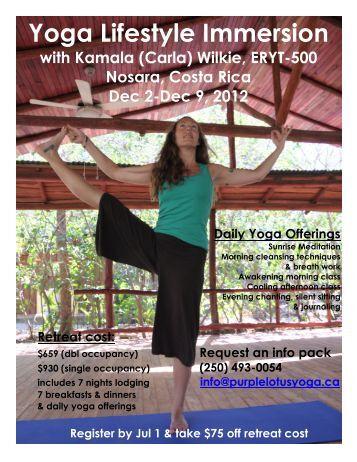 Yoga Lifestyle Immersion - South Okanagan Yoga Academy
