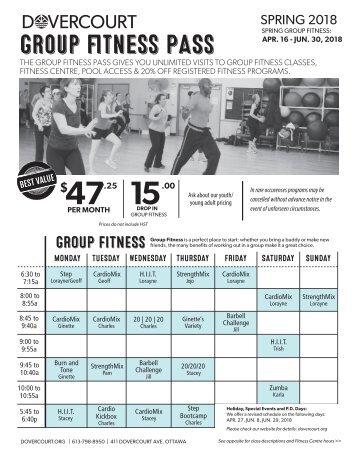 Dovercourt Spring 2018 Group fitness