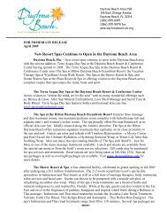 New Resort Spas Continue to Open in the Daytona Beach Area