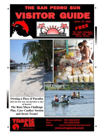 The San Pedro Sun Visitor Guide - Ambergris Caye