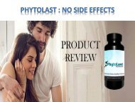 PhytoLast   No side effects