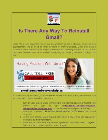 Is There Any Way To Reinstall Gmail?