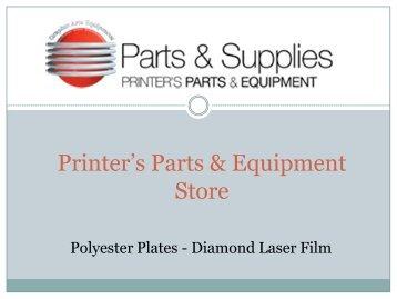 Polyester Plates - Diamond Laser Film