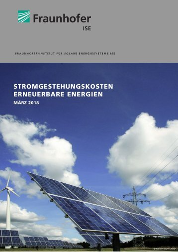 Stromgestehungskosten Erneuerbare Energien