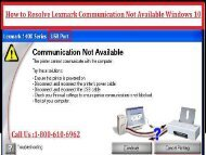 Call 1-800-213-8289 to fix Lexmark Communication Not Available Windows