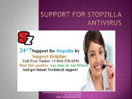 Support For StopZilla Antivirus | StopZilla Support