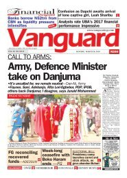 26032018 - CALL TO ARMS: Army, Defence Minister take on Danjuma