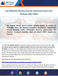 Eye Makeup Industry Survey, Revenue Status and Outlook 2012-2022
