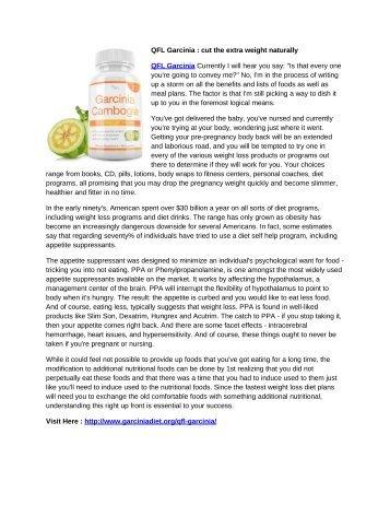 QFL Garcinia : perfect weight loss formula
