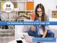 Fix Bitdefender Antivirus Error Code 108