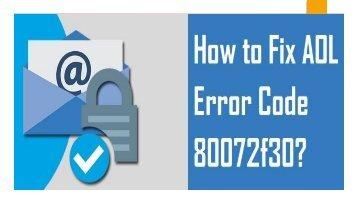 1-800-488-5392 Fix AOL Error Code 80072f30