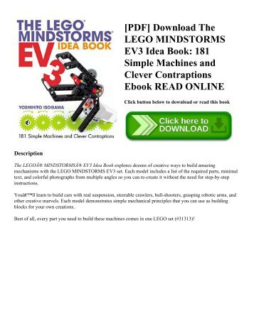 [PDF] Download The LEGO MINDSTORMS EV3 Idea Book: 181 Simple Machines and Clever Contraptions Ebook READ ONLINE
