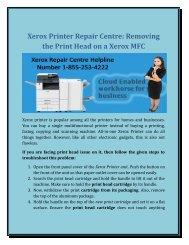 Xerox Printer Repair centre: Removing the Print Head on a Xerox MFC?