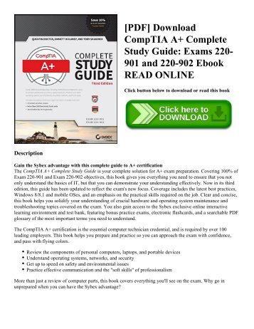 [PDF] Download CompTIA A+ Complete Study Guide: Exams 220-901 and 220-902 Ebook READ ONLINE