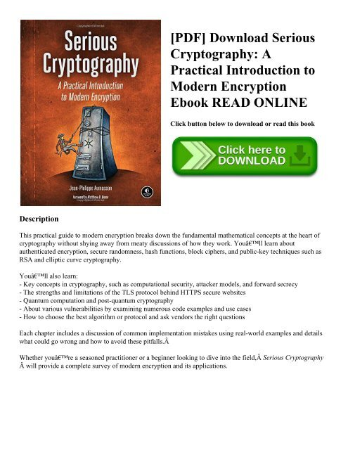 Introduction To Modern Cryptography Pdf