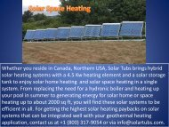 Solar Space Heating System