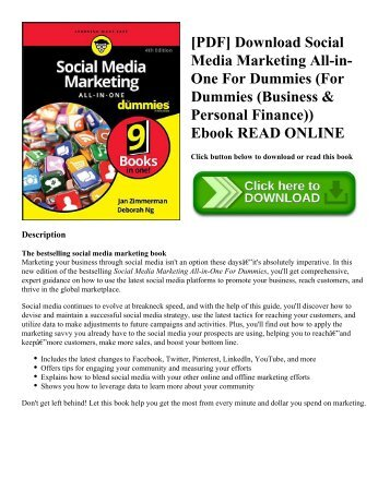 [PDF] Download Social Media Marketing All-in-One For Dummies (For Dummies (Business & Personal Finance)) Ebook READ ONLINE