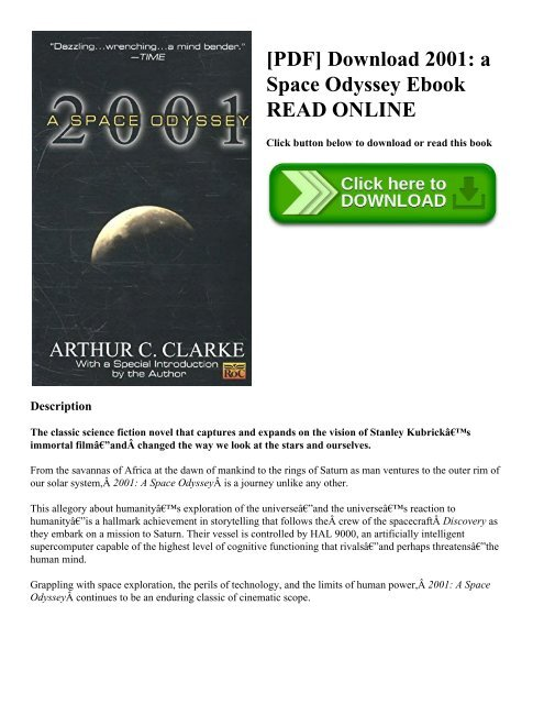 PDF] Download 2001: a Space Odyssey Ebook READ ONLINE