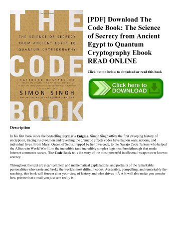 The light of egypt or the science of the astroccult pdf download the code book the science of secrecy from ancient egypt to fandeluxe Gallery