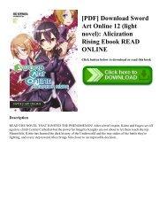 sword art online alicization lasting pdf download