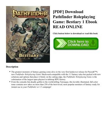 Pathfinder bestiary 1pdf dorks and dragons pdf download pathfinder roleplaying game bestiary 1 ebook read online fandeluxe Choice Image