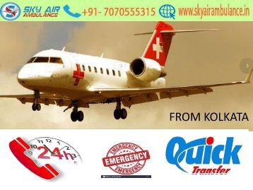 Sky Air Ambulance Service in Guwahati with Doctors facility