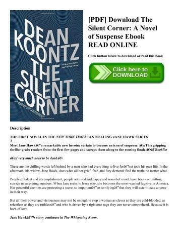 [PDF] Download The Silent Corner: A Novel of Suspense Ebook READ ONLINE