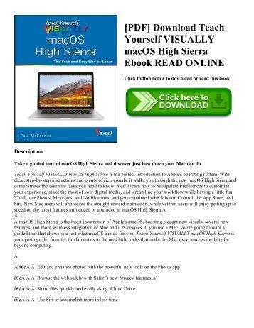 PDF Download Teach Yourself VISUALLY MacOS High Sierra Ebook READ ONLINE
