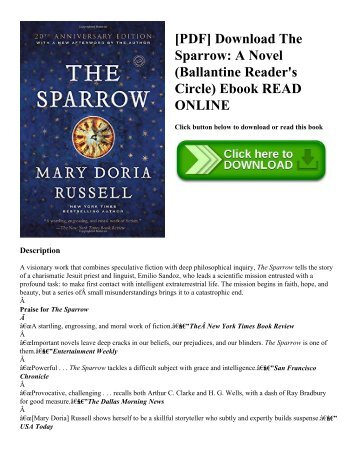 [PDF] Download The Sparrow: A Novel (Ballantine Reader's Circle) Ebook READ ONLINE