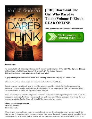 [PDF] Download The Girl Who Dared to Think (Volume 1) Ebook READ ONLINE