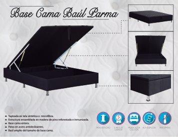 Base cama baul Parma