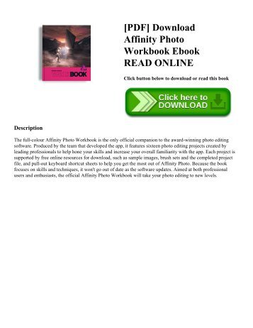 [PDF] Download Affinity Photo Workbook Ebook READ ONLINE