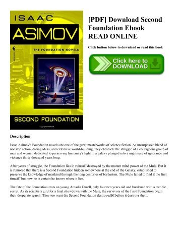 [PDF] Download Second Foundation Ebook READ ONLINE
