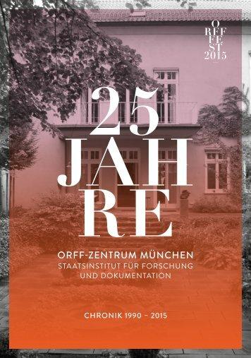 25 Jahre Orff-Zentrum München