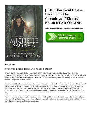 [PDF] Download Cast in Deception (The Chronicles of Elantra) Ebook READ ONLINE