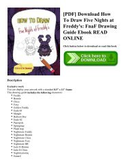 [PDF] Download How To Draw Five Nights at Freddy's: FnaF Drawing Guide Ebook READ ONLINE