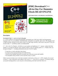 [PDF] Download C++ All-in-One For Dummies Ebook READ ONLINE