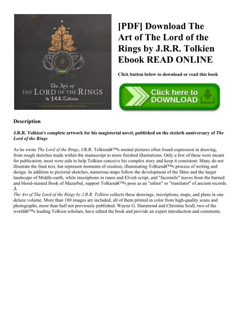 Lord Of The Rings Ebook Mobi