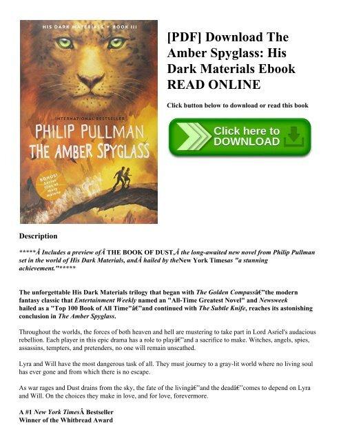 Philip Pullman His Dark Materials Pdf