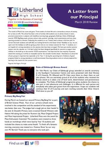 Principals Letter March 2018 DSC