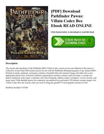 [PDF] Download Pathfinder Pawns: Villain Codex Box Ebook READ ONLINE