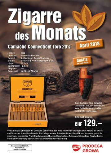 Zigarre des Monats April