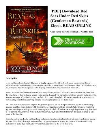 Download [pdf] red seas under red skies (gentleman bastards band 2.