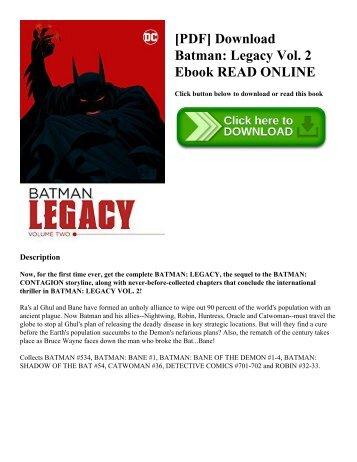 [PDF] Download Batman: Legacy Vol. 2 Ebook READ ONLINE